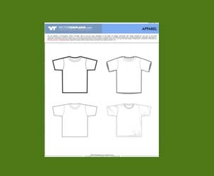 4 Vector T-Shirt Templates : Free Download