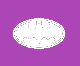 Batman Logo - Outlines Only