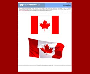 Canadian Flag - flat flag and wavey flag : Free Download