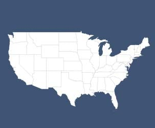 Map of US States (thin outlines)