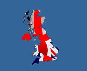 UK Map (Union Jack fill 2)