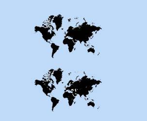 Vector World Map (Low Detail, Medium Detail)