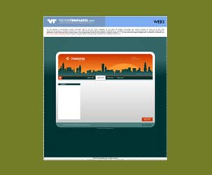 Web Template with skyline/cityscape