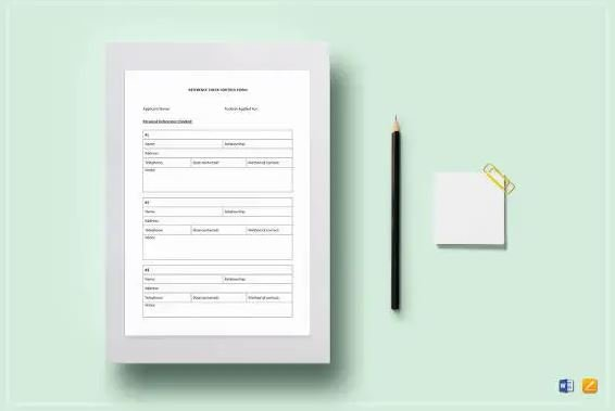 Applicant Reference Check Form