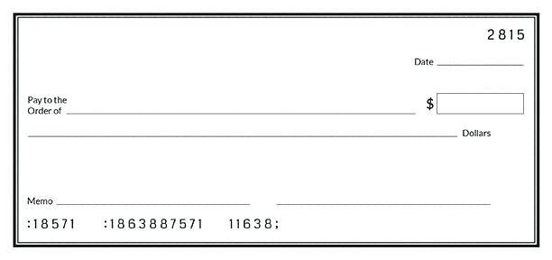 Editable Flat Style Bank Check Template