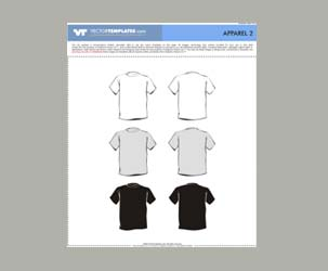 6 Vector T-Shirt Templates