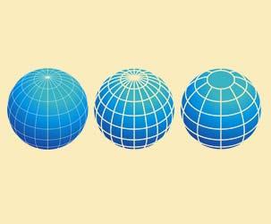 Globes With Longitude and Latitude