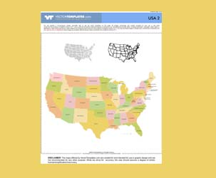 High Detail US Map with US States