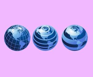 Line Globes 3