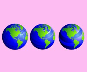 Line Globes 5