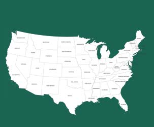 Map of the US States (very high detail)