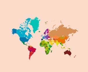Political World Map (Medium Detail)