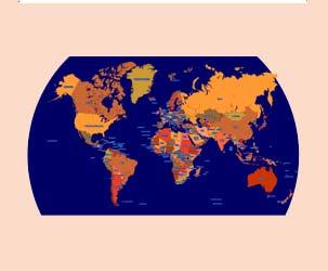 Political World Map (Very High Detail)