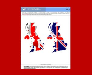 UK 2: UK Map with Union Jack Fill