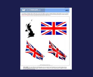 Vector UK Map, Union Jack