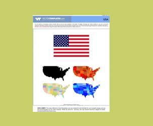 Vector USA Flag, Vector USA Maps
