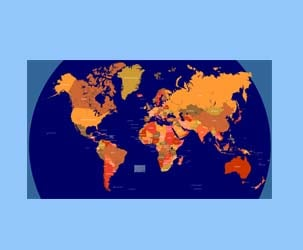 World Map With Country Borders (huge map)